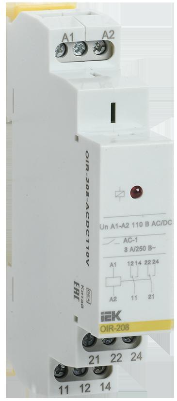 Промежуточное модульное реле OIR 2 конт (8А) 110 В AC/DC IEK