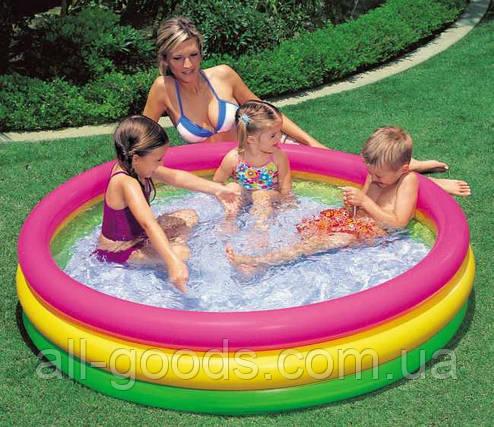 Детский бассейн надувной Intex 57412 радуга, фото 2