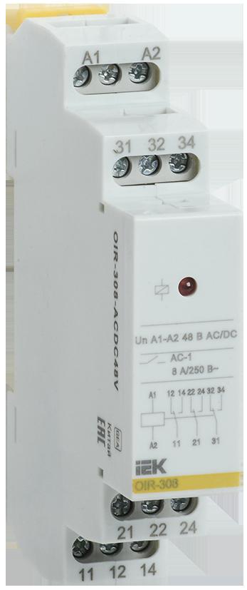 Промежуточное модульное реле OIR 3 конт (8А) 48В AC/DC IEK