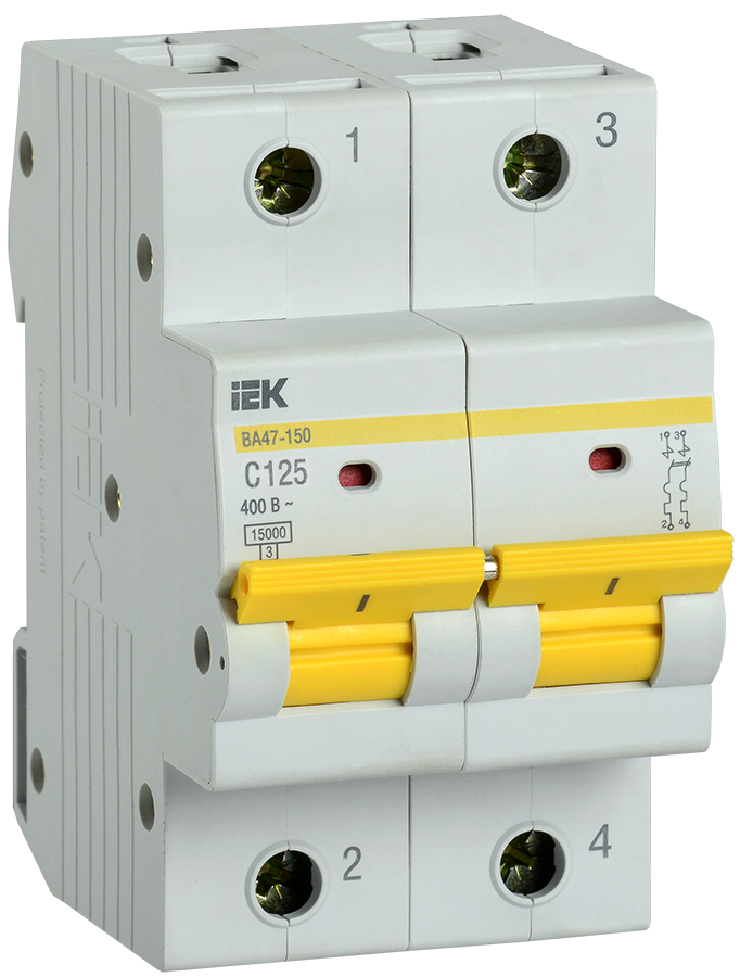 Выключатель автоматический ВА47-150 2Р 125А 15кА х-ка C IEK