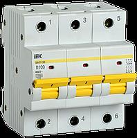 Выключатель автоматический ВА47-150 3Р 100А 15кА х-ка D IEK