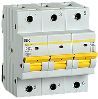 Выключатель автоматический ВА47-150 3Р 125А 15кА х-ка D IEK