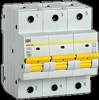 Выключатель автоматический ВА47-150 3Р 63А 15кА х-ка D IEK