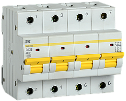 Выключатель автоматический ВА47-150 4Р 125А 15кА х-ка D IEK
