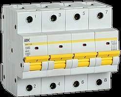 Выключатель автоматический ВА47-150 4Р 80А 15кА х-ка D IEK