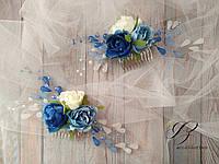 Гребешок для волос с цветами и веточками