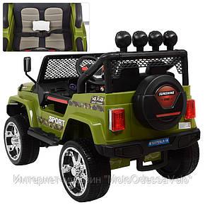 Электромобиль Jeep Wrangler 4WD зеленый, фото 2