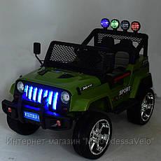 Электромобиль Jeep Wrangler 4WD зеленый, фото 3