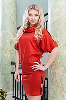 Короткое трикотажное женское платье 8020 качественное, фото 1