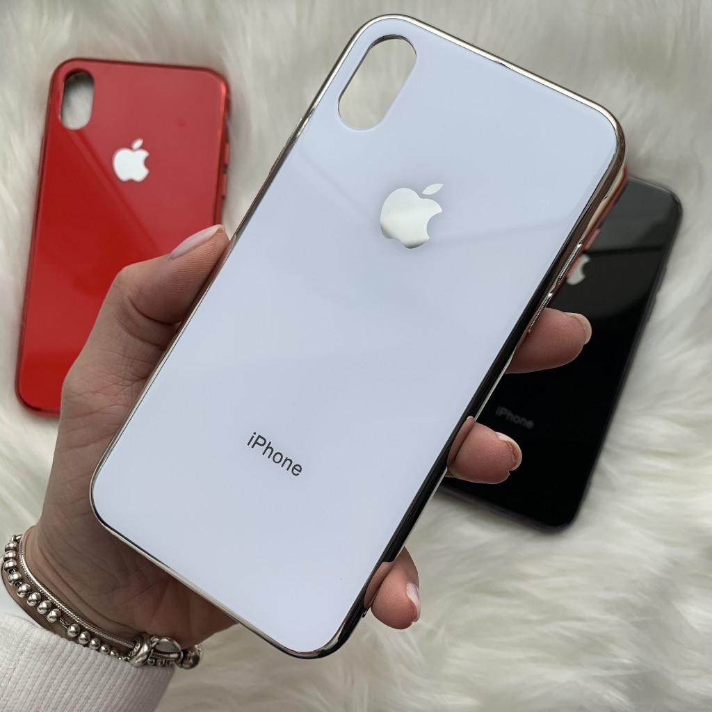 Накладка iPhone XS Max Glass Logo
