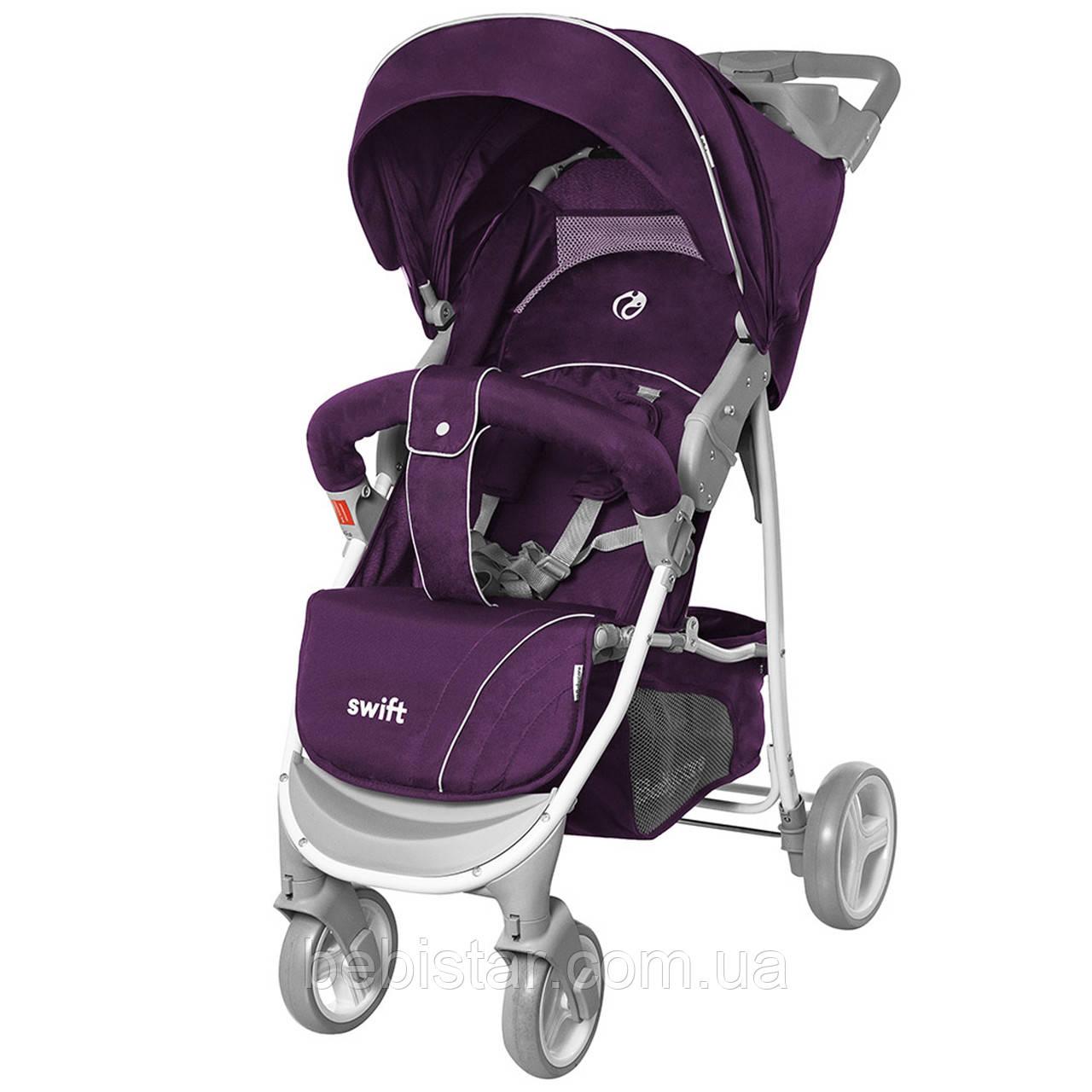 Детская прогулочная коляска фиолетовая с дождевиком BABYCARE Swift BC-11201/1 Purple