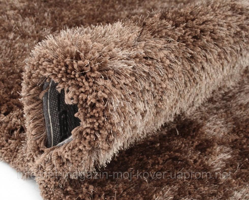 Купити килими 120х170см зі знижкою,килим шеггі коричневий