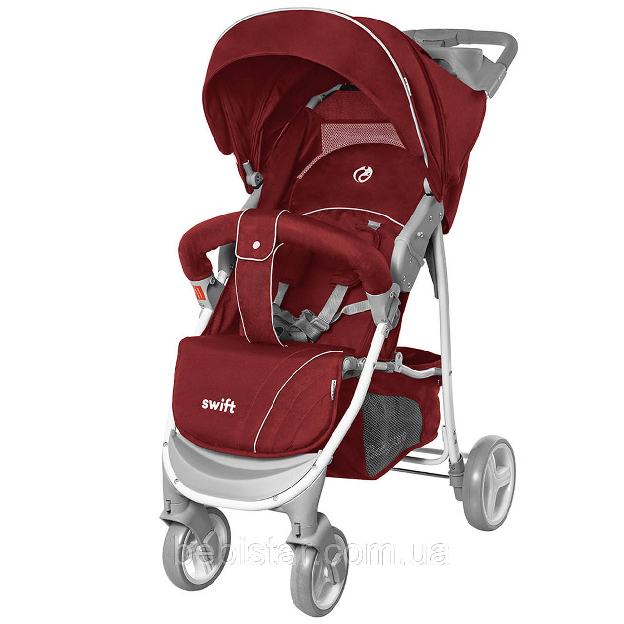 Детская прогулочная коляска красная с дождевиком BABYCARE Swift BC-11201/1 Red