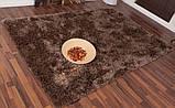 Купити килими 120х170см зі знижкою,килим шеггі коричневий, фото 3