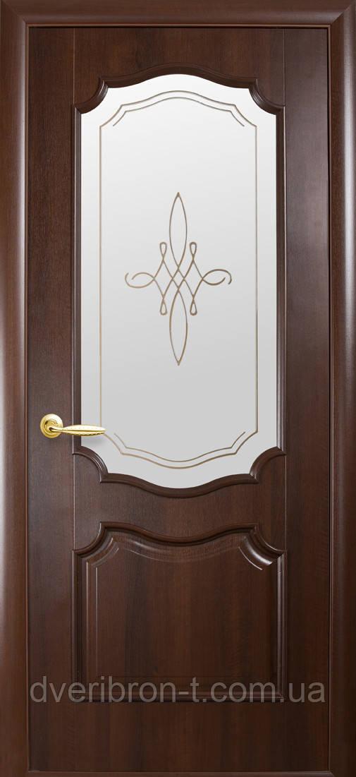 Двери Новый Стиль Рока +Р1 каштан, коллекция Интера DeLuxe