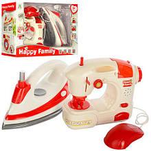 Набор детской бытовой техники швейная машинка, утюг. Звук/свет