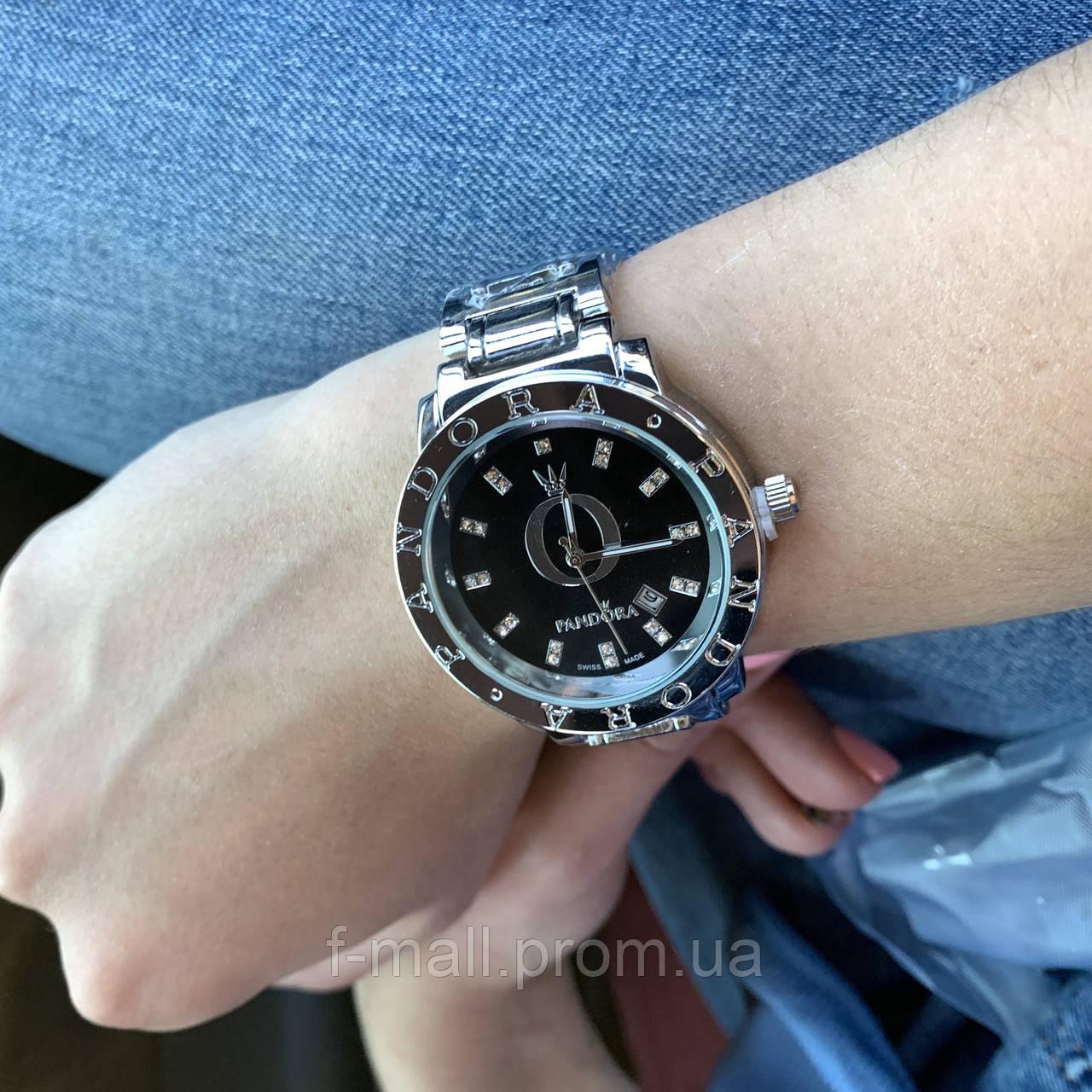 Женские наручные часы Pandora черный циферблат(реплика)