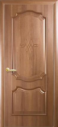 Двери Новый Стиль Рока глухое золотая ольха, коллекция Интера DeLuxe, фото 2