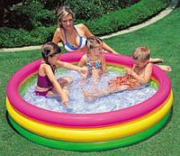 Детский бассейн надувной Intex 57422 радуга, надувной бассейн, детский надувной бассейн, надувной бассейн для дачи