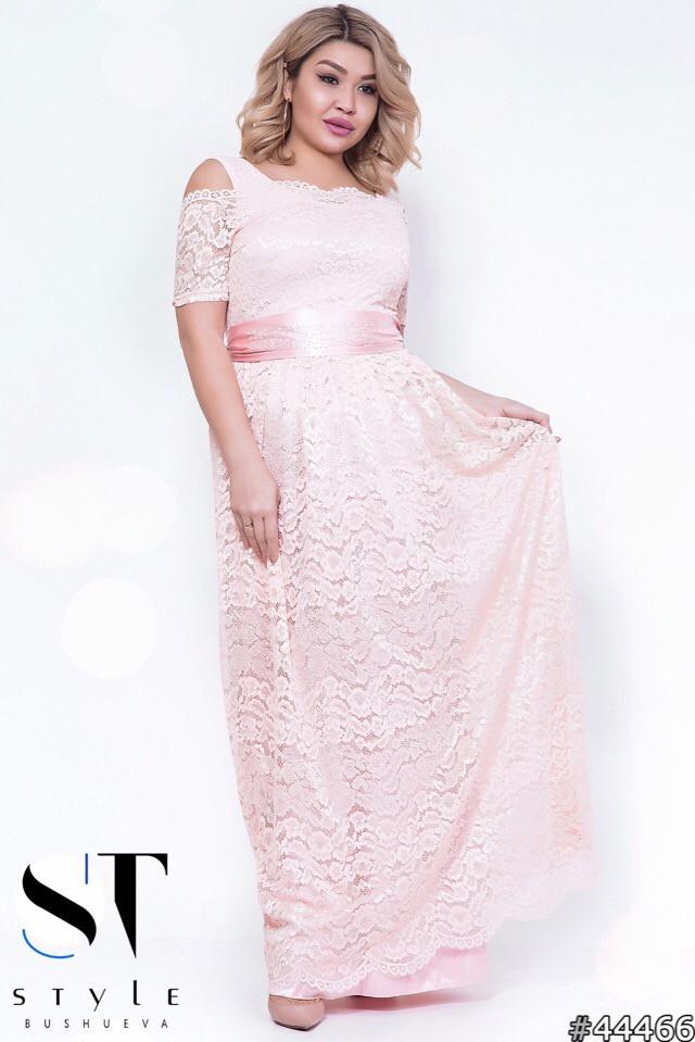 03be8a542aba0c0 Вечернее гипюровое платье больших размеров (р. 48-54) - Magret женская и