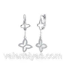 Серебряные серьги с подвесками  СК2Ф/1010