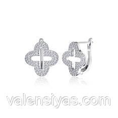 Серебряные серьги  СК2Ф/1012