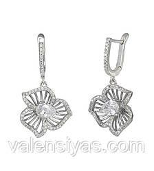 Серебряные серьги Цветок СК2Ф/480