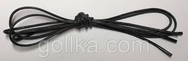 Шнурки с пропиткой круглые тёмно-серый