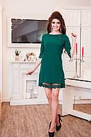 Зеленое стильное платье