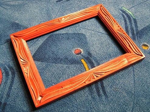 Рамка резная из дерева, фото 2