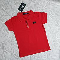 Красная футболка поло Philipp Plein детская, фото 1