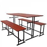 Комплект меблів для шкільної їдальні на 6 осіб-від виробника, фото 2