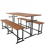Комплект меблів для шкільної їдальні на 6 осіб-від виробника, фото 3