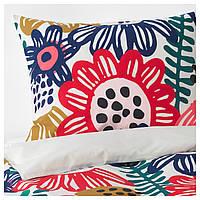 IKEA SOMMARASTER Комплект постельного белья, белый, разноцветный  (404.233.14), фото 1