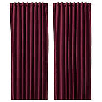 IKEA SANELA Гардины, 2 шт, темно-красный  (904.140.29), фото 1