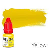 Пигмент для татуажа WizArt Organic Yellow 5 мл