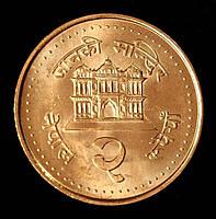 Монета Непала 2 рупий 2003 г.