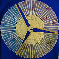 Веер шелк+бамбук (20,5 см)(10 шт/уп)