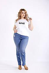 Синие джинсы женские