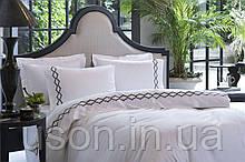 Комплект постельного белья сатин люкс Pepper home евро размер orlando siyah