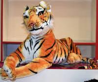 Мягкая игрушка Тигр лежит 70см №8898-48, мягкие игрушки для детей и взрослых,качественный,праздничные подарки