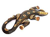 Гекон деревянный с рисунком (30х12х1,5 см)(ARG037XS)