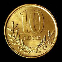Монета Албании 10 леков 2013 г.