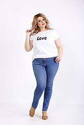 Синие простые джинсы по щиколотку женские