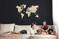 Дерв'яні пазли  «Карта світу» Wooden City L 83х55 см.
