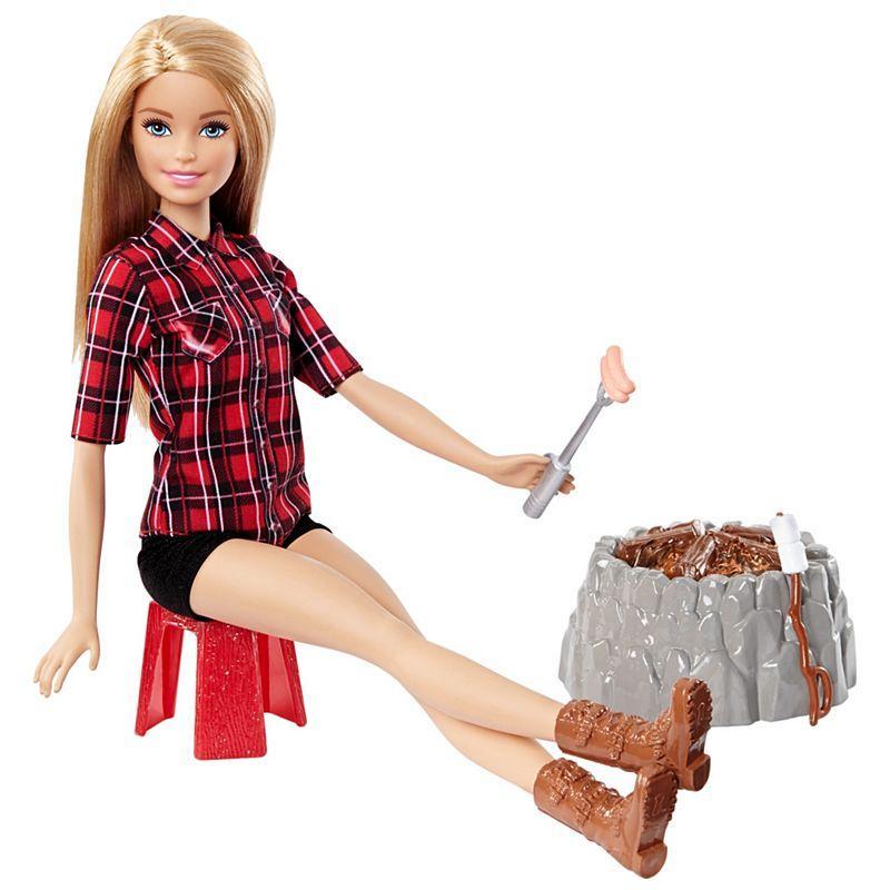 Лялька Барбі на пікніку турист світло і звук Barbie Camping Fun Doll