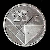 Монета Арубы 25 центов 2018 г.