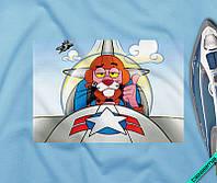 Аплпикации на свитшоты Рожева Пантера Пілот [Свій розмір і матеріали в асортименті]