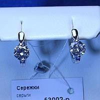 Серебряные серьги 925 пробы с фианитом 53002-р, фото 1