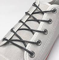 Шнурки с пропиткой круглые тёмно-серый 120 см, фото 1